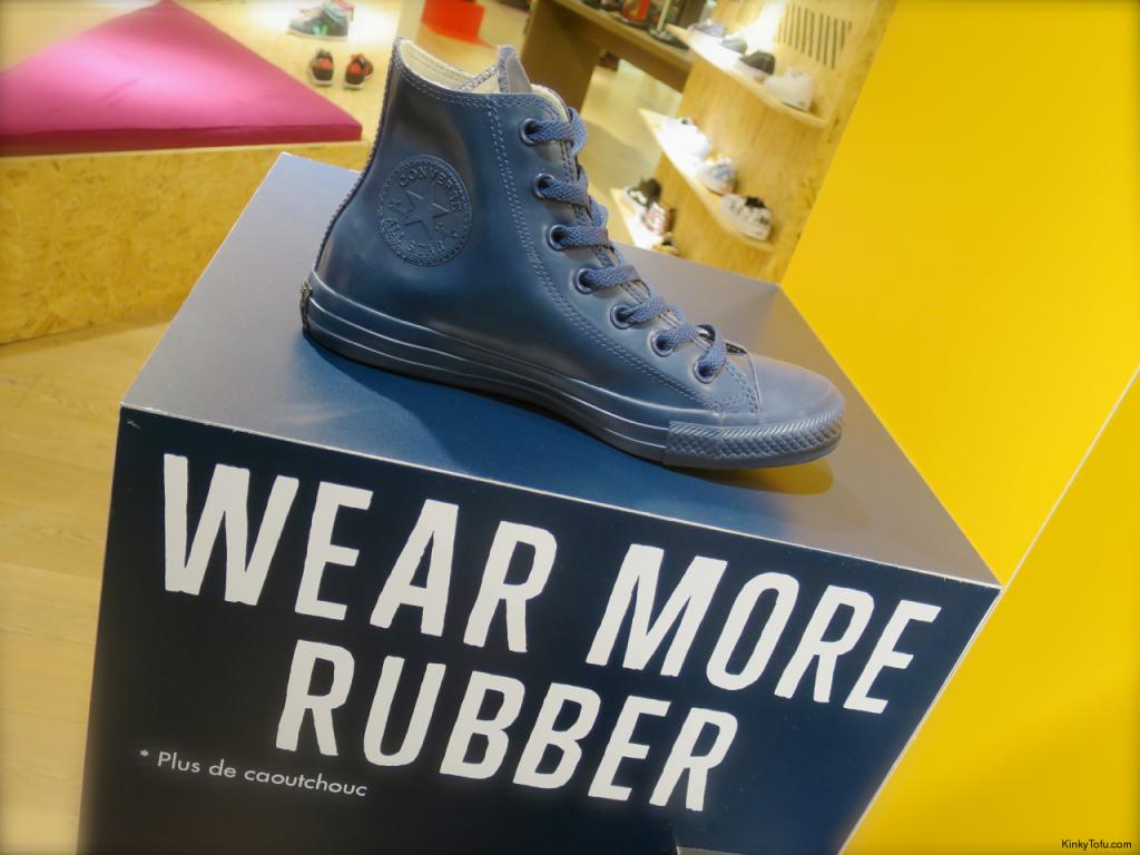 """Wear More Rubber"" - rubber converse blue sneakers"